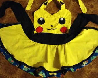 Pokemon Pikachu Cosplay Apron Pinafore