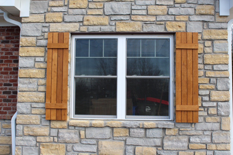 Craftsman rustic cedar shutters home decor farmhouse decor for Mission style shutters