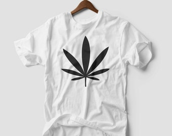 Marijuana Weed LEAF T-SHIRT unisex addicted kush pot leaf cannabis men