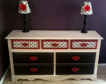 shabby chic buffet table etsy. Black Bedroom Furniture Sets. Home Design Ideas