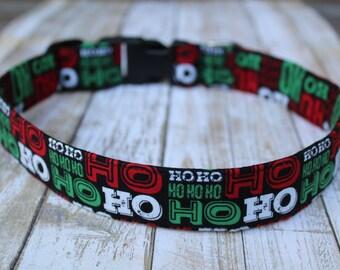Ho Ho Ho Dog Collar - Christmas Dog Collar - Winter Dog Collar -  Christmas Dog Leash - Christmas Dog Harness - Santa dog collar