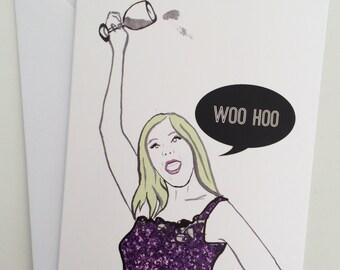 Woo Hoo- Real Housewives Vicki Gunvalson Note/Greetings Card/Invitation