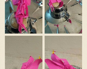Pink origami fairy