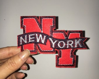 New York embroidered patch Embroidery patch iron on patches iron on patch sew on patch