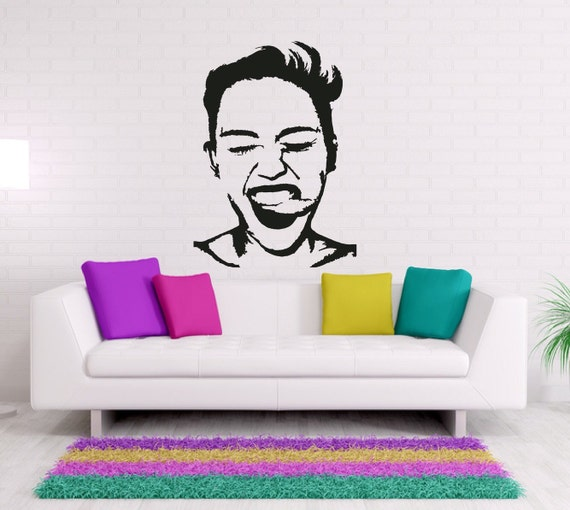 Miley Cyrus Celebrity Wall Decals Music Wall By FoxandCanvas