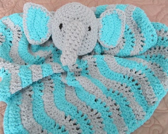 Elephant Lovey - Crocheted