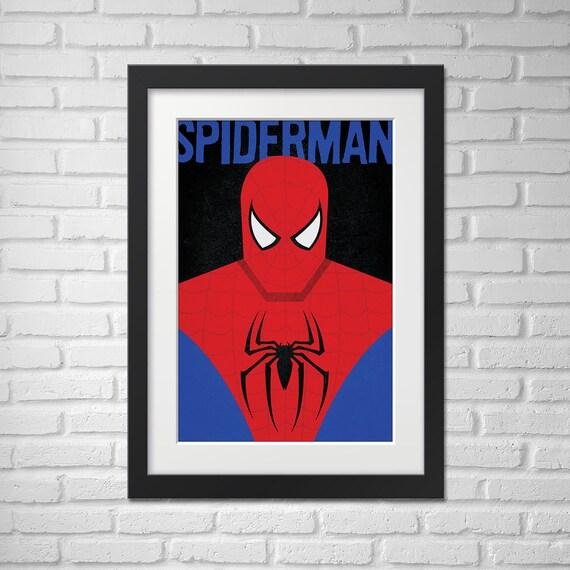 Spiderman Poster - Illustration / Spiderman Poster / Spiderman