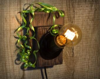 Wood lamp - Edison lamp - Sconce