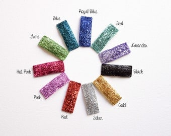 Glitter Clips - Assorted Colors