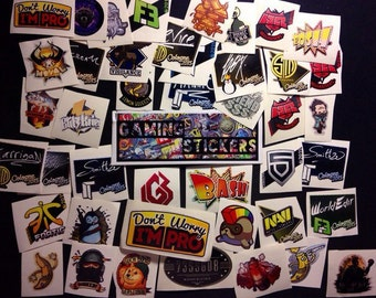 10 ANY Stickers from CS GO in real life , Counter Strike Global Offensive Decal sticker