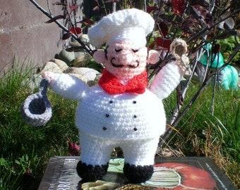 PATTERN: Crochet Funny Happy chef-Amigurami