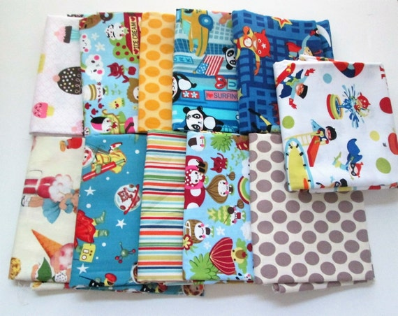 Michael miller assorted children 39 s fabric half yard for Childrens fabric bundles