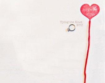 tyingtheknotnyc custom letterpress wedding invitation order - Deposit Listing