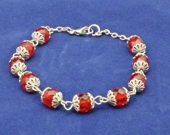 Birthstone Bracelet Ruby ( July)