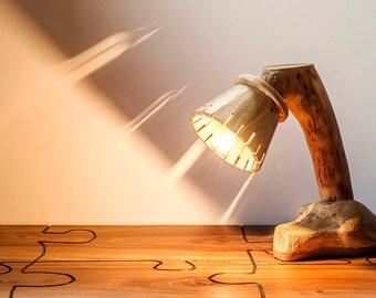 Abat Jour in solid oak and Oak-wood lamp-lighting-