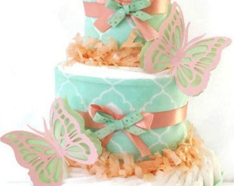 Butterflies custom Diaper Cake