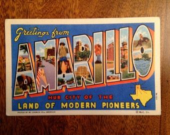 Vintage Amarillo Texas Postcard-Posted 1942