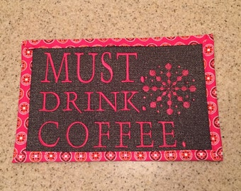 Coffee placemat
