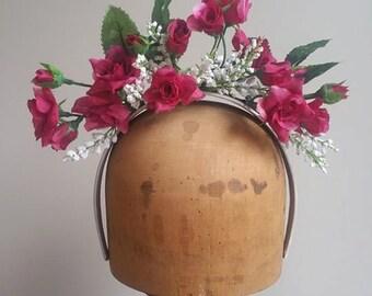 Flower Crown - Dainty Plum Spray Fascinator