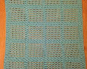 Crochet square pattern baby blanket