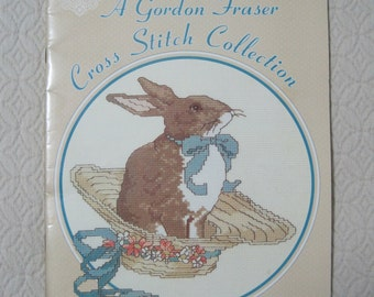 Counted Cross Stitch Pattern Book, A Gordon Fraser Cross Stitch Collection, 1986, Vintage