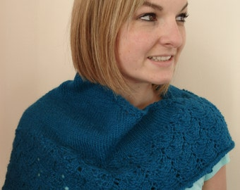 Lace Trimmed Shawl