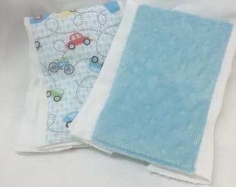Burpies for Baby Boy/set of 2 burp cloths
