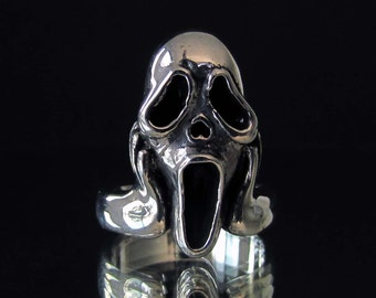 Sterling silver Art ring The Scream by Munch