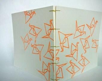 Book Coptic linocut crane