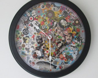 Led Zeppelin Clock 14 INCH Clock Custom Zeppelin Wall Clock With Blimp Added To SECOND Hand--COOL!! Batteries Included---CustomClocksCanada