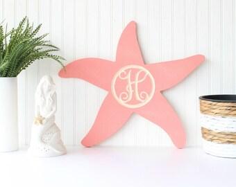 Starfish Monogram, beach monogram, beach decor, beach wedding ideas, beach wedding decor, summer decor, beach house