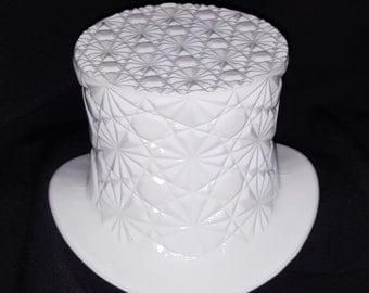 Indiana Milk Glass Top Hat