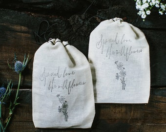 Spread Love Like Wildflowers - Wedding Favors (set of 25)
