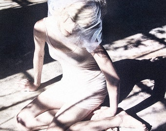 Dreamy Photograph, Female Figure, Ethereal Portrait, Pale Woman, White, Fine Art Print, Wall Art, Bedroom Decor, Shadows, Romantic