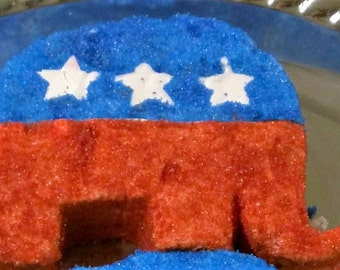 Republican Party Marshmallow Elephant Qty 6 with stars