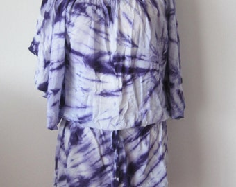 PURPLE ~ Tie Dyed Top Or Dress!