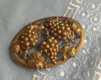 Antique Victorian Brooch Repousse