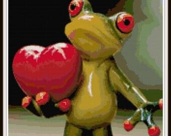 Frog Cross Stitch Pattern - PDF Download