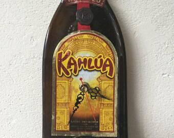 Kahlua licor bottle clock