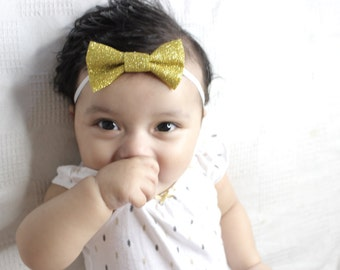 Golden Sparkly Bow