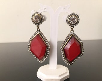 Red, Green heavy party earring