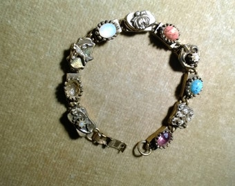 Vintage Bracelet with Semi-Precious Stones