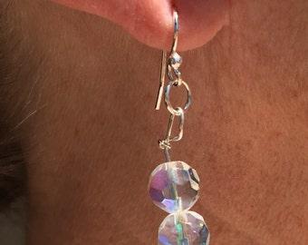Vintage Aurora Borealis Crystal Earrings