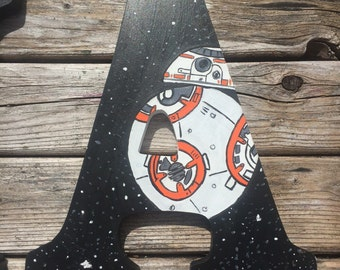 Star Wars painted letters