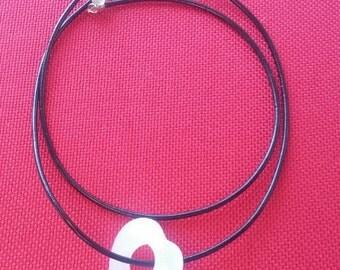 Hollow Heart drop necklace