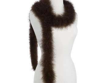 Brown 25 Gram Marabou Feather Boas - Use as Trim or Wear as a Scarf
