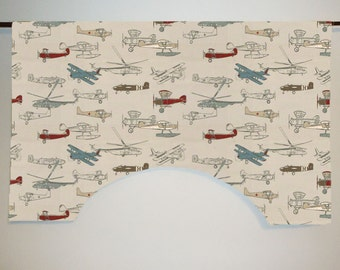 Premier Prints Vintage Air Custom Valance Curtain, Pewter/Natural, Lined