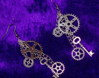 Key & Cogs Earrings
