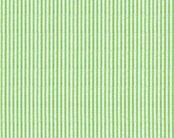 Lime Seersucker Fabric, Robert Kaufman Fabric, green and white seersucker, cotton blend seersucker