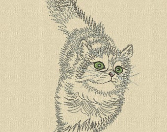 MACHINE EMBROIDERY DESIGN - Cat
